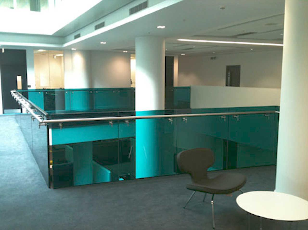 Media City Stair Glass