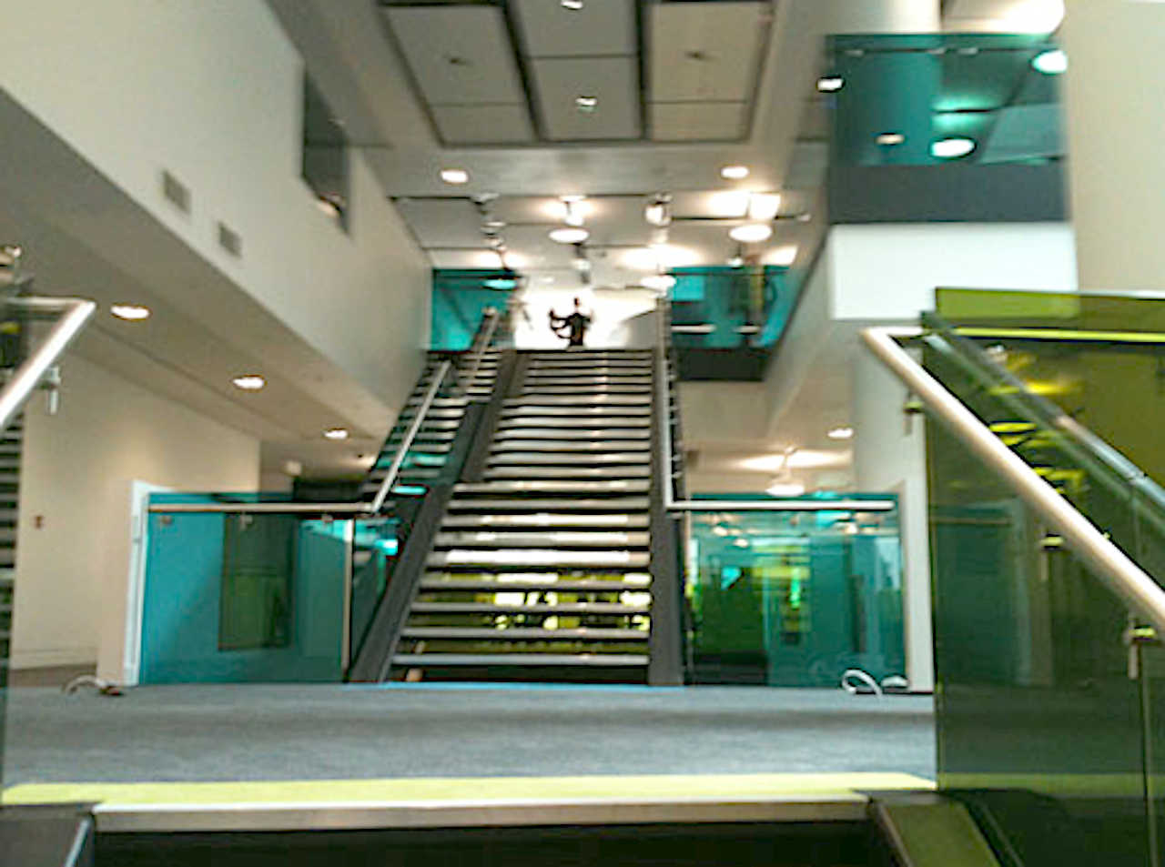Media City Stair Glass 2
